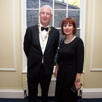 Law Society President Michael Quinlan with Culture Minister Josepha Madigan