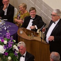 Chief Justice Frank Clarke entertained listeners with an amusing speech