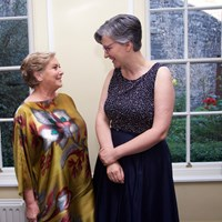 Former Justice Minister Frances Fitzgerald with Michelle ní Loinsigh of the Law Society