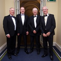 Council member Martin Lawlor, Dublin City Council Law Agent Terence O'Keeffe and His Honour Judge Martin Nolan with President Michael Quinlan