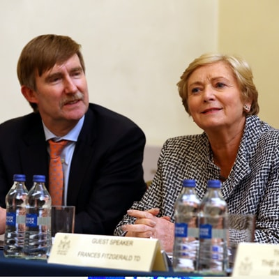 Ken Murphy of the Law Society and former justice minister Frances Fitzgerald