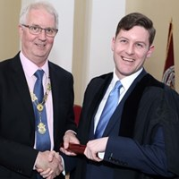 Law Society President Michael Quinlan with Emmet Connolly of A&L Goodbody