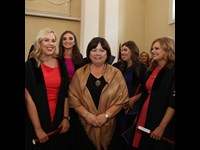 Former Tánaiste Mary Harney surrounded by new solicitors