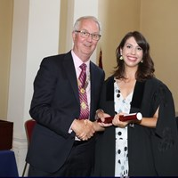 President Michael Quinlan with Cassandra Roddy-Mullineaux of William Fry