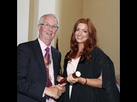 President Michael Quinlan with Ailbhe Durkin of MHC