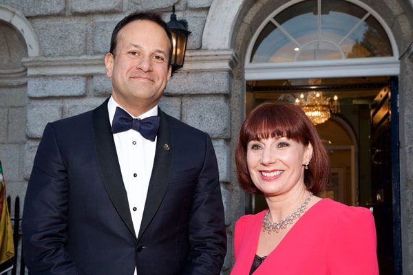 Taoiseach Leo Varadkar with Minister Josepha Madigan