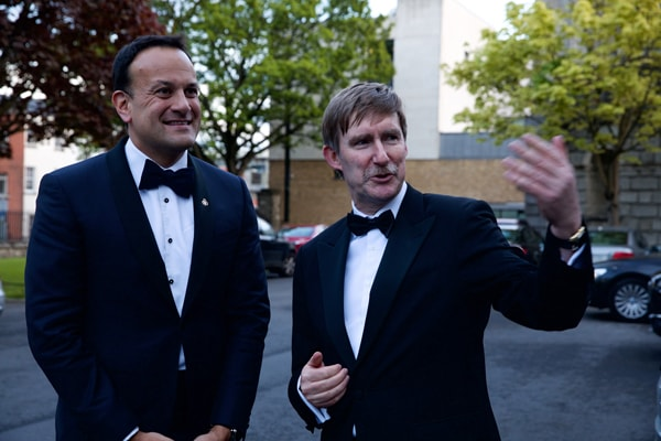An Taoiseach Leo Varadkar with Law Society's Ken Murphy