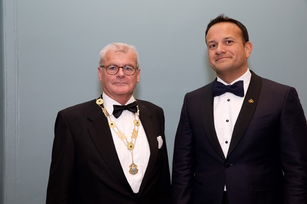 Law Society President Patrick Dorgan with Taoiseach Leo Varadkar