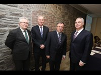 AG Seamus Woulfe, Micheál P O'Higgins, Bar of Ireland, Advocate General Gerard Hogan and Paul McGarry, EUBA chair