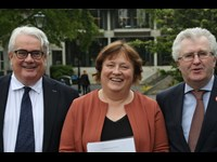 Chief Justice Frank Clarke, FLAC's Eilis Barry, Attorney General Seamus Woulfe