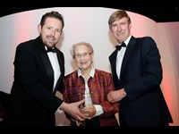 Ken Murphy of Law Society and Damien Murran of RSM with Justice Catherine McGuinness, recipient of the Lifetime Achievement Award, sponsored by RSM