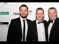 Jarvis Joslyn, John Donigan and Gareth Walker of LEAP legal software, recipient of the service provider to the legal profession of the year award