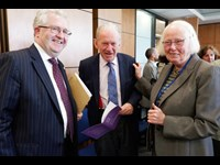 Attorney General Séamus Woulfe SC with Justice Daniel O'Keeffe and Justice Mary Laffoy, LRC President