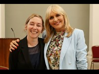 Phile White of Law Society with Miriam O'Callaghan