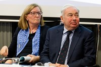 Helen Kilroy and Mr Justice Paul Gilligan
