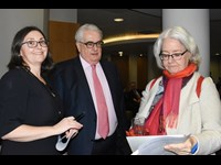 Angela Denning, Chief Justice Frank Clarke and Justice Mary Ellen Ring