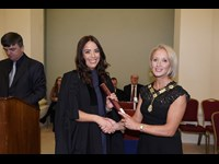 President of the Law Society of Ireland Michele O'Boyle with Lorraine Hearne