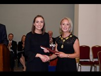 President of the Law Society of Ireland Michele O'Boyle with Claire Murnane
