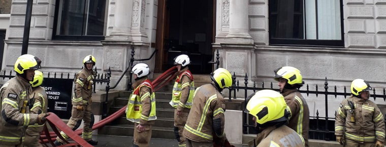 Blaze spreads rapidly through Law Society building in London