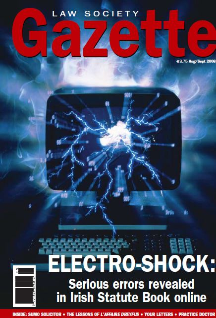 Electro-Shock: Serious errors revealed in Irish Statute Book online