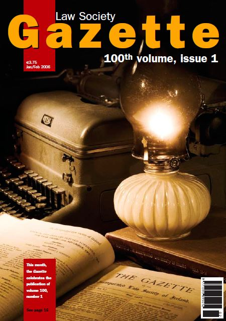 The Gazette celebrates the publication of volume 100, number 1