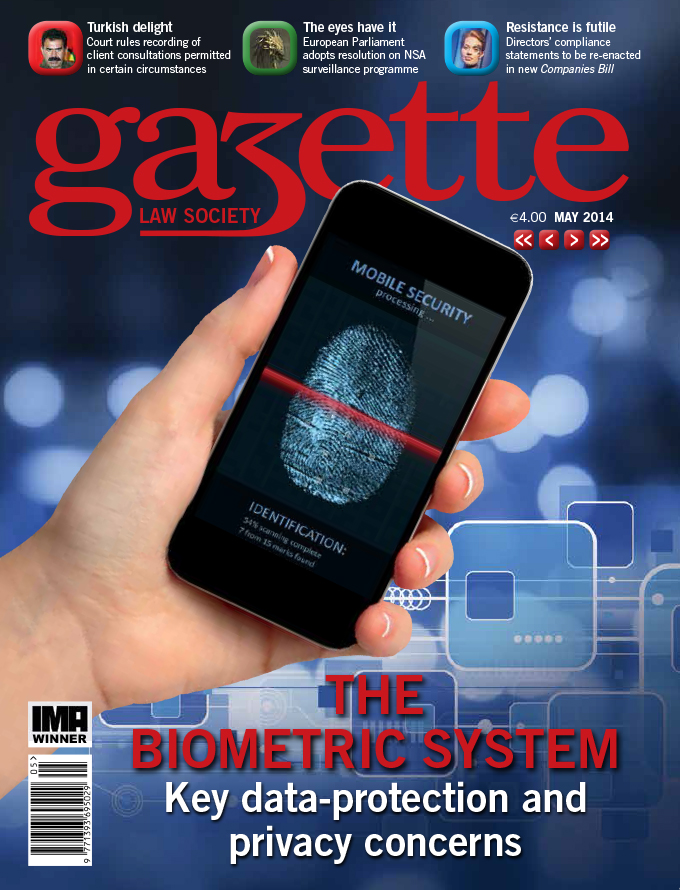 The biometric system: key data-protection and privacy concerns