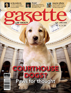 Courthouse dogs? Paws for thought